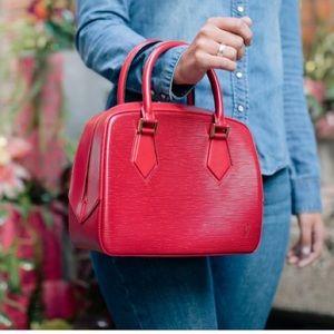 authentic Louis Vuitton Epi Sablons Castilian Red
